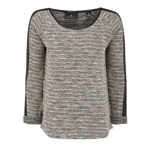 Maison Scotch & Soda Boulce Leather Trim Sweater M